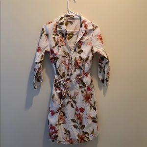 DRESS BARN flower pattern long sleeve dress